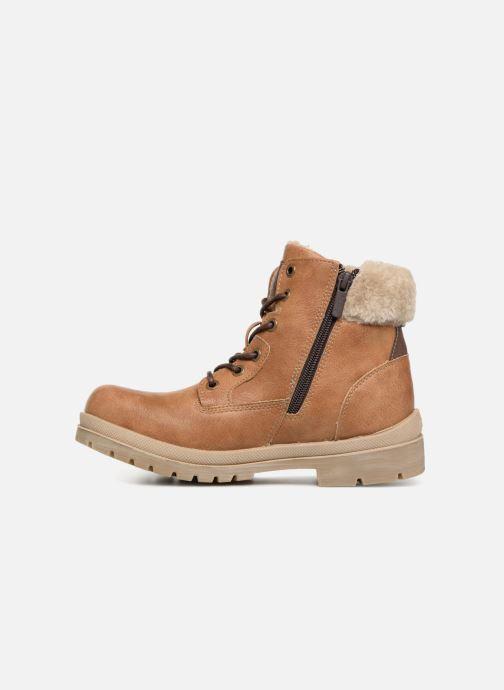 Bottines et boots Mustang shoes Heidi Marron vue face