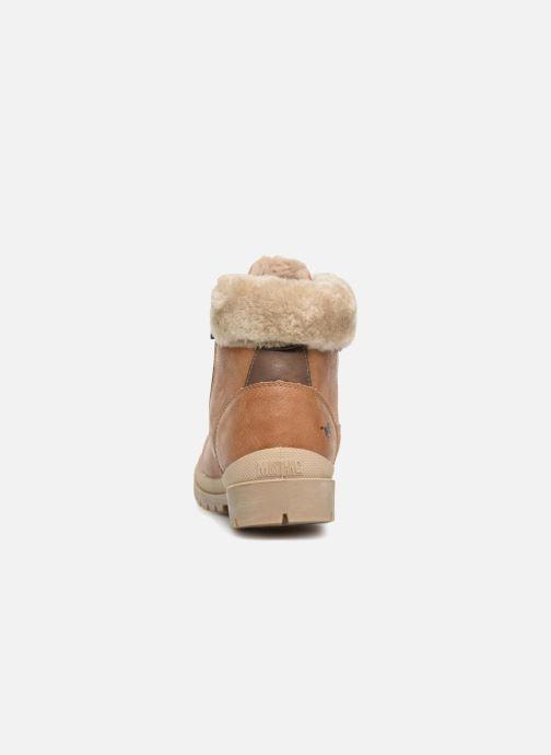 Bottines et boots Mustang shoes Heidi Marron vue droite