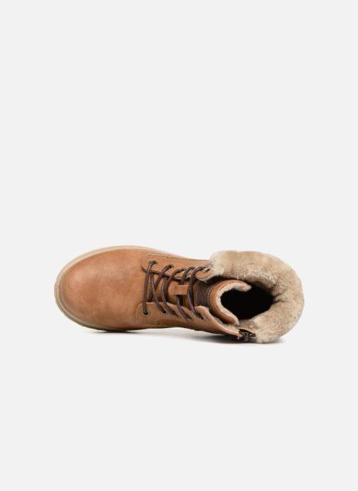 Bottines et boots Mustang shoes Heidi Marron vue gauche