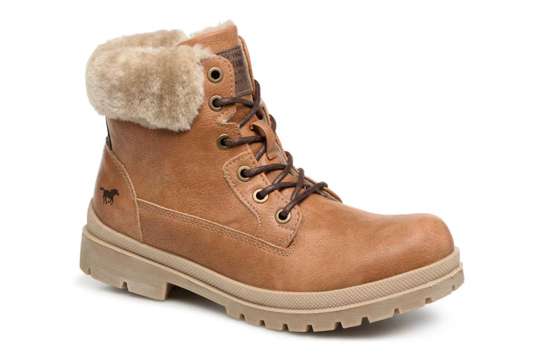 Bottines et boots Mustang shoes Heidi Marron vue détail/paire