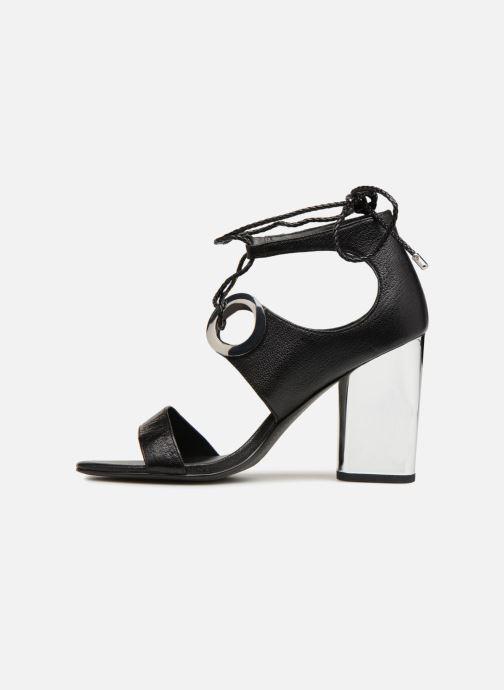 Sandalen What For Neda schwarz ansicht von vorne
