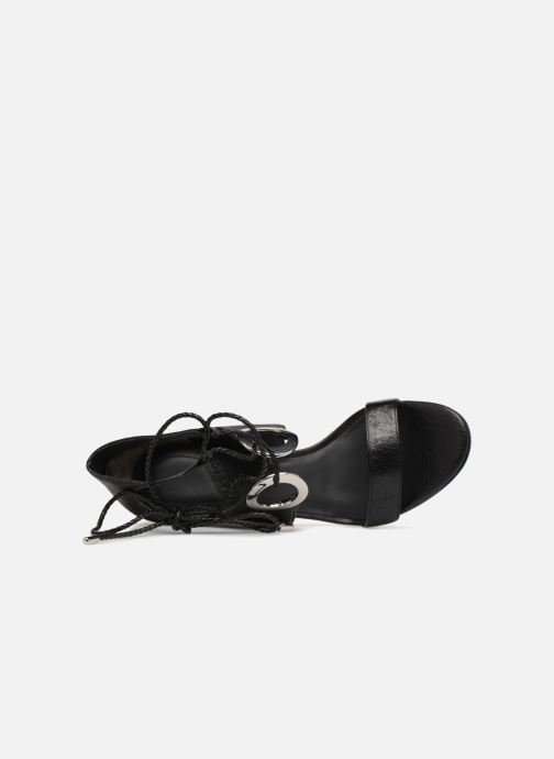 Sandalen What For Neda schwarz ansicht von links
