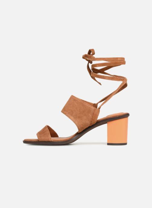 Sandales et nu-pieds What For Eachan Marron vue face