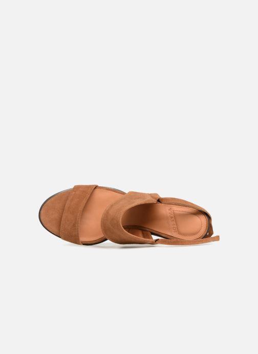 Sandales et nu-pieds What For Eachan Marron vue gauche