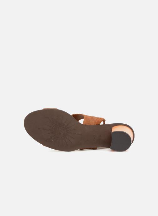 Sandales et nu-pieds What For Eachan Marron vue haut