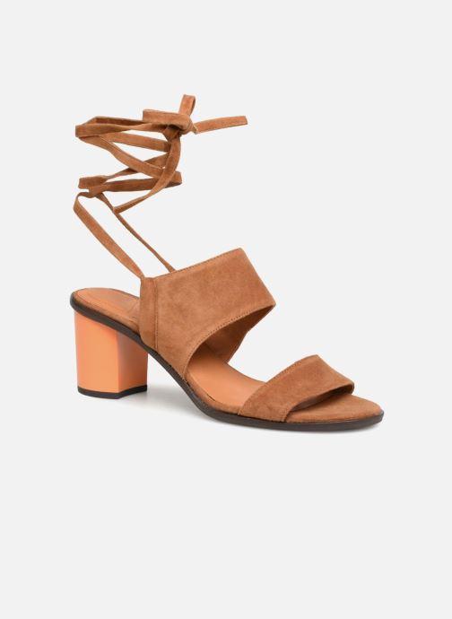 Sandales et nu-pieds What For Eachan Marron vue détail/paire