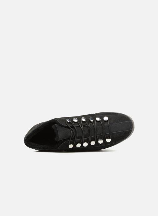 Zapatos con cordones What For Mike Negro vista lateral izquierda