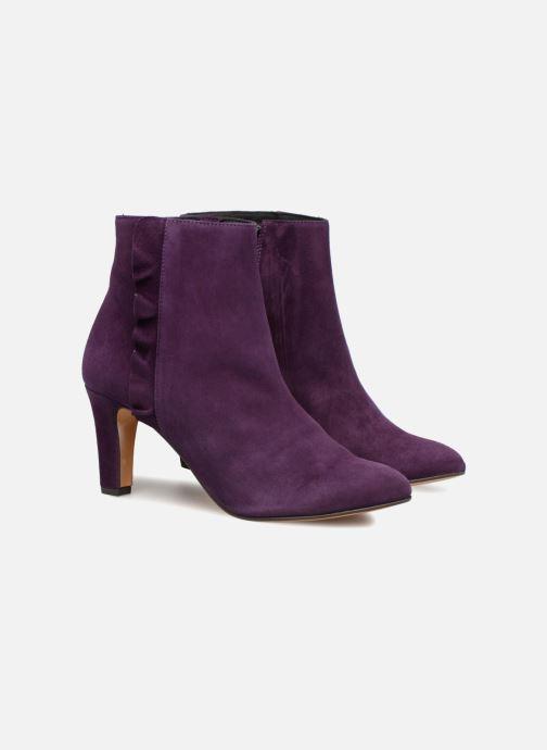 Bottines et boots Tila March Muzelle Flounce Violet vue 3/4