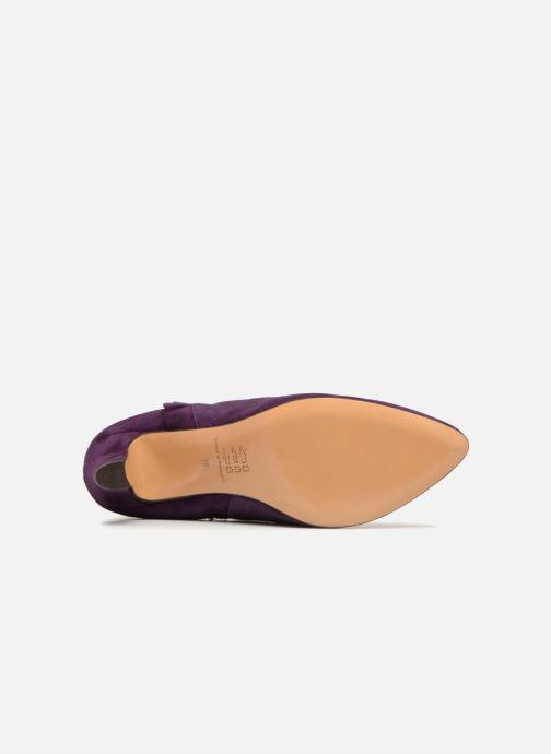 Bottines et boots Tila March Muzelle Flounce Violet vue haut