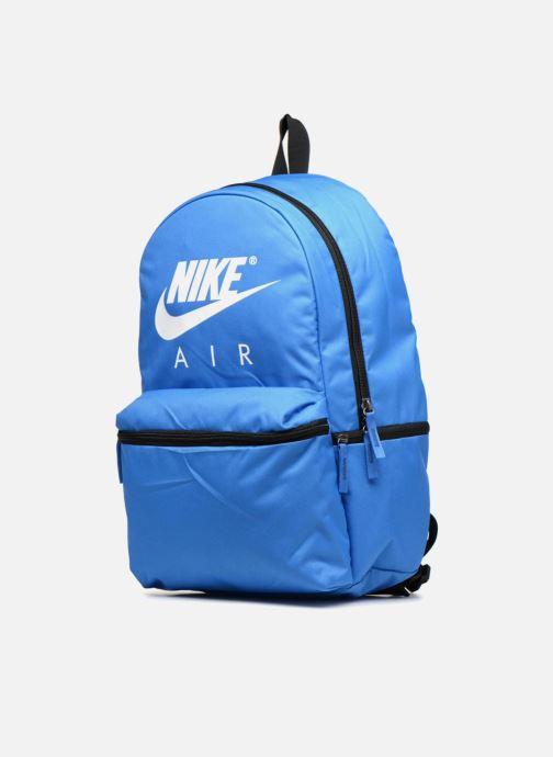 Rucksäcke Nike NK AIR BKPK blau schuhe getragen