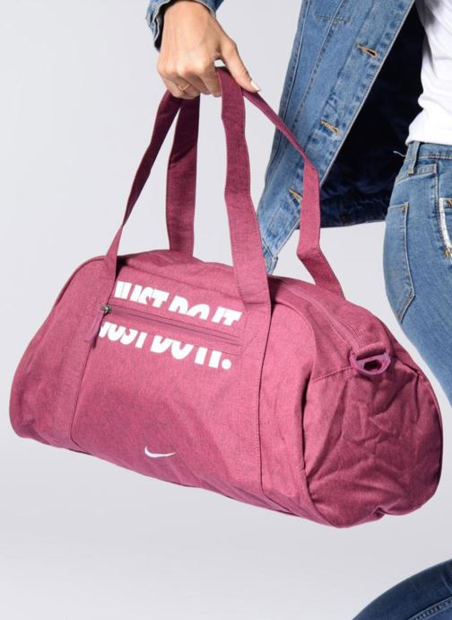 Sacs de sport Nike W NK GYM CLUB Rose vue haut