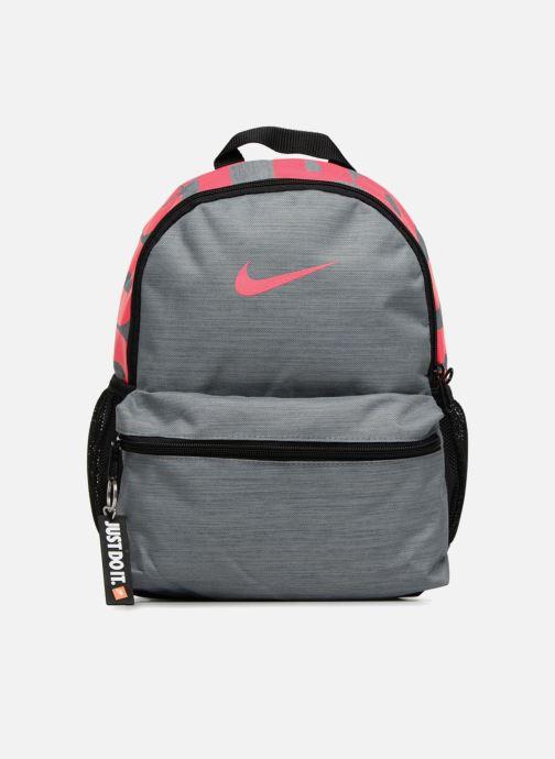 Mochilas Nike Y NK BRSLA JDI MINI BKPK Gris vista de detalle / par