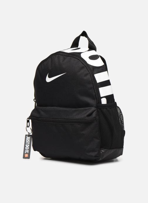 Zaini Nike Y NK BRSLA JDI MINI BKPK Nero modello indossato