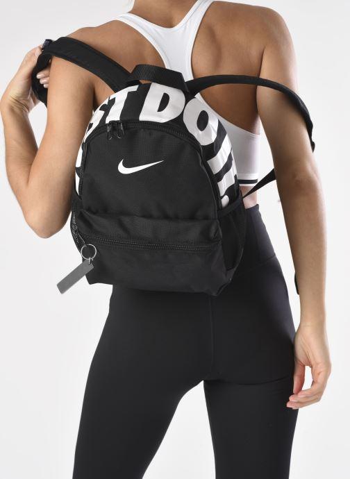 Rucksäcke Nike Y NK BRSLA JDI MINI BKPK schwarz ansicht von unten / tasche getragen