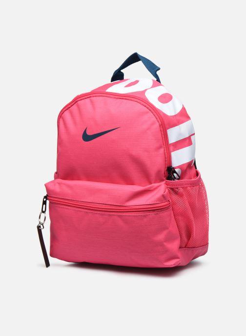 Mochilas Nike Y NK BRSLA JDI MINI BKPK Rosa vista del modelo