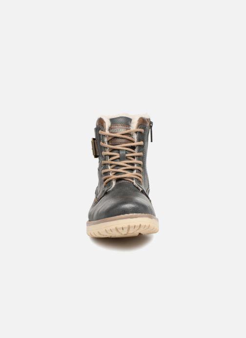 Bottes Mustang shoes Mirkle Gris vue portées chaussures