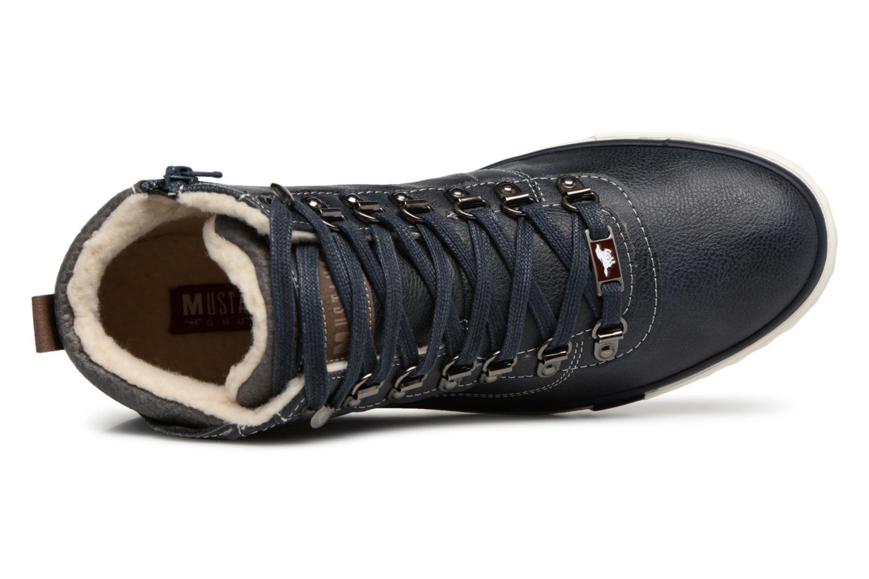 Baskets Mustang shoes Stel Bleu vue gauche