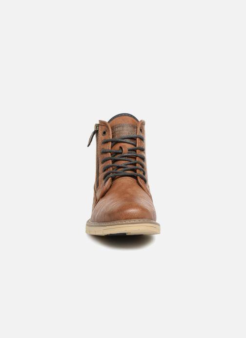 Bottines et boots Mustang shoes Calagan Marron vue portées chaussures