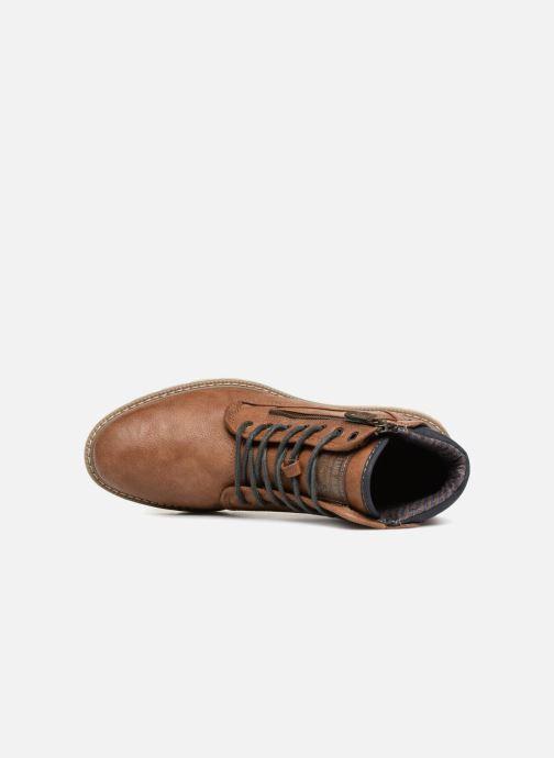 Boots en enkellaarsjes Mustang shoes Calagan Bruin links