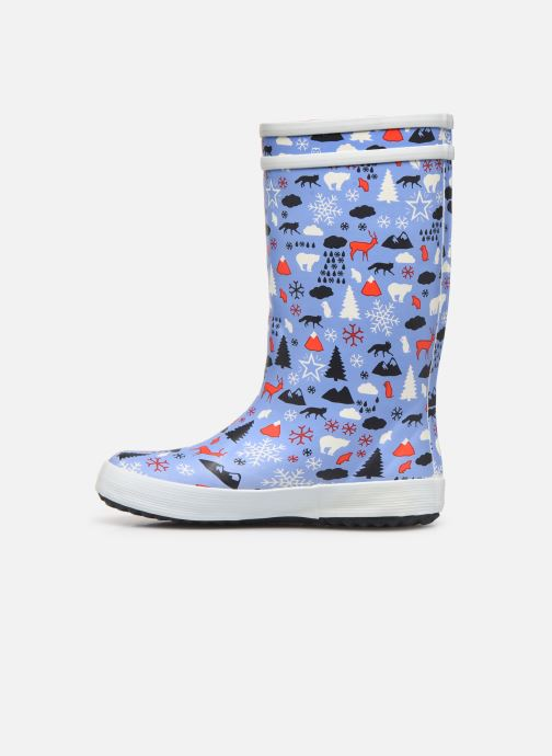 Boots & wellies Aigle Lolly Pop Print Fur Blue front view