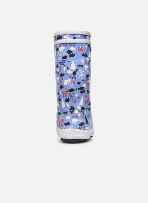 Bottes Aigle Lolly Pop Print Fur Bleu vue droite