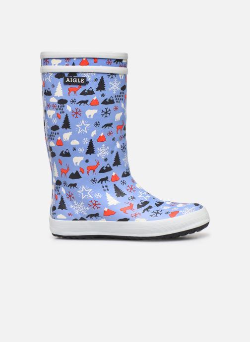 Boots & wellies Aigle Lolly Pop Print Fur Blue back view
