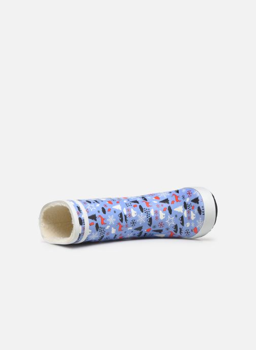 Stiefel Aigle Lolly Pop Print Fur blau ansicht von links