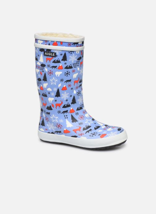 Boots & wellies Aigle Lolly Pop Print Fur Blue detailed view/ Pair view