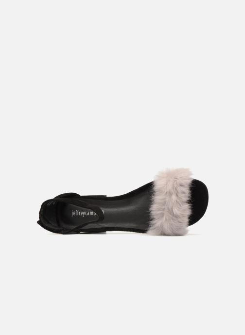 pieds Sandales Et Jeffrey Campbell Suede Fur Black Nu 421 Grey 35RLAq4j