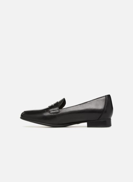 Mocasines Clarks Unstructured Un Blush Go Negro vista de frente