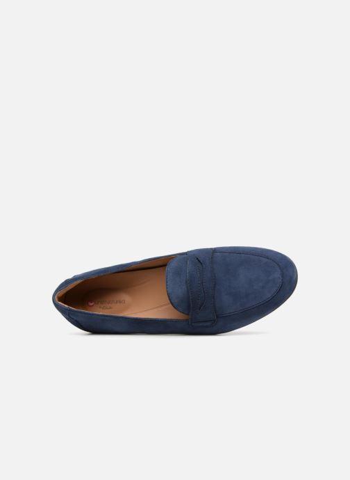 Slipper Clarks Unstructured Un Blush Go blau ansicht von links