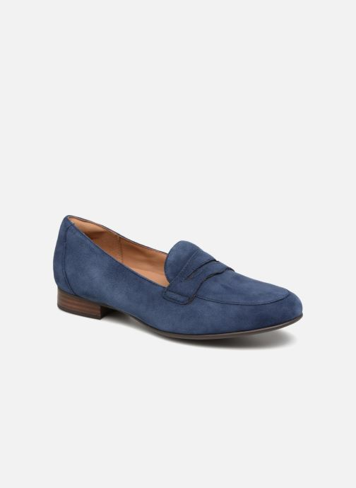 Mocassins Clarks Unstructured Un Blush Go Bleu vue détail/paire