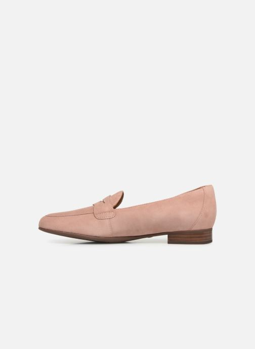 Mocassins Clarks Unstructured Un Blush Go Rose vue face