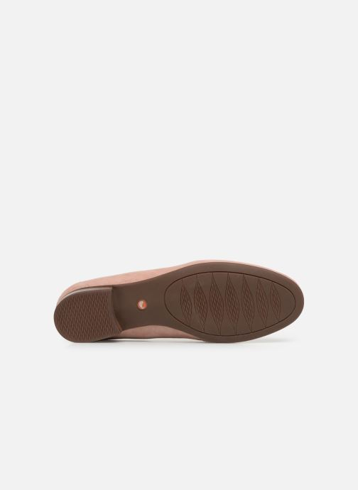 Mocassins Clarks Unstructured Un Blush Go Rose vue haut