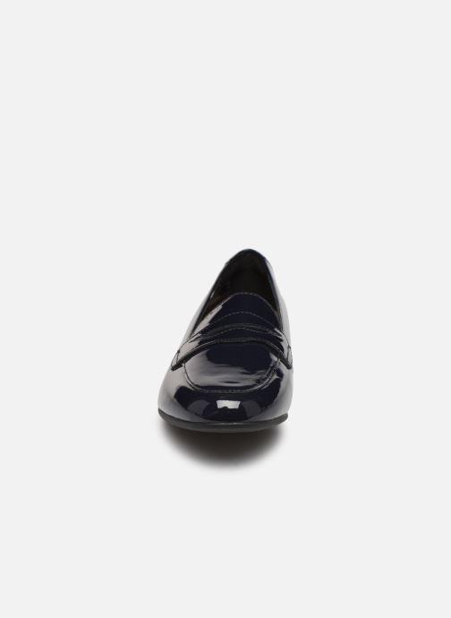 Mocassins Clarks Unstructured Un Blush Go Bleu vue portées chaussures