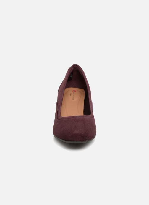 Escarpins Clarks Unstructured Un Cosmo Step Violet vue portées chaussures