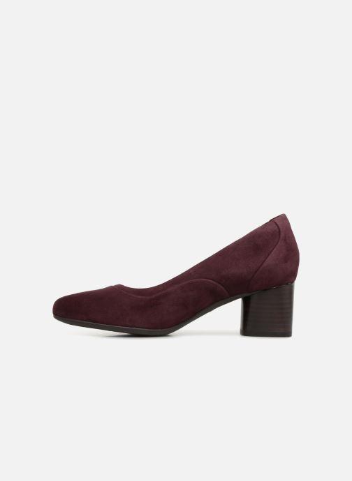 Zapatos de tacón Clarks Unstructured Un Cosmo Step Violeta      vista de frente