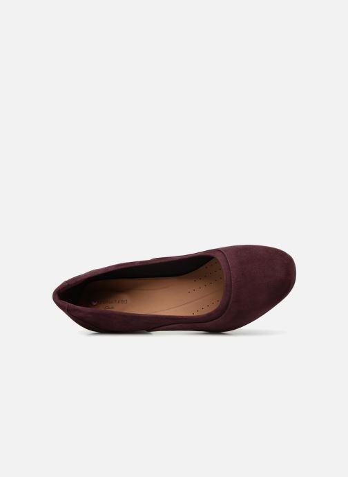 Zapatos de tacón Clarks Unstructured Un Cosmo Step Violeta      vista lateral izquierda
