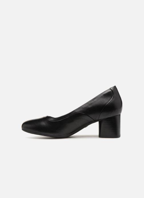 Zapatos de tacón Clarks Unstructured Un Cosmo Step Negro vista de frente
