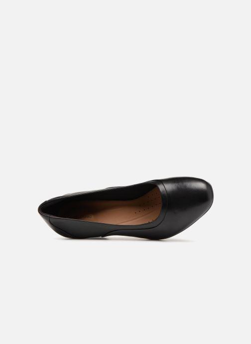 Zapatos de tacón Clarks Unstructured Un Cosmo Step Negro vista lateral izquierda