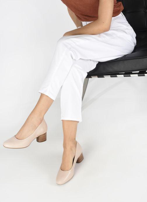 Zapatos de tacón Clarks Unstructured Un Cosmo Step Rosa vista de abajo