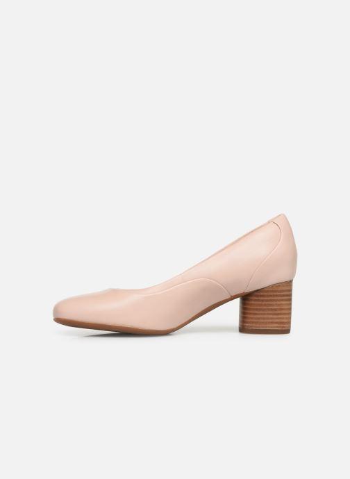 Zapatos de tacón Clarks Unstructured Un Cosmo Step Rosa vista de frente