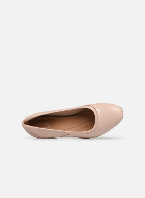 High heels Clarks Unstructured Un Cosmo Step Pink view from the left