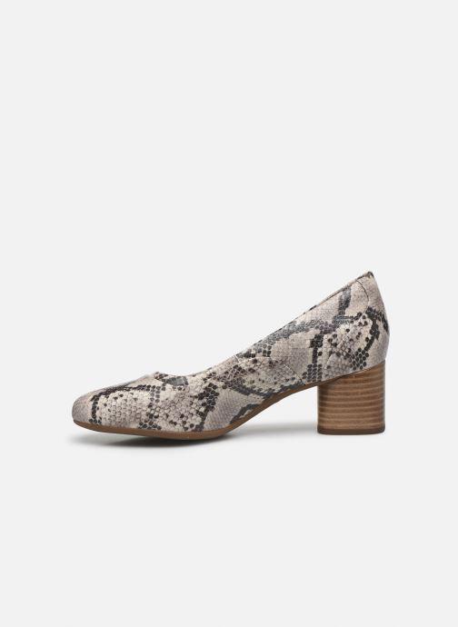 Zapatos de tacón Clarks Unstructured Un Cosmo Step Beige vista de frente