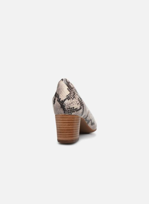 Zapatos de tacón Clarks Unstructured Un Cosmo Step Beige vista lateral derecha
