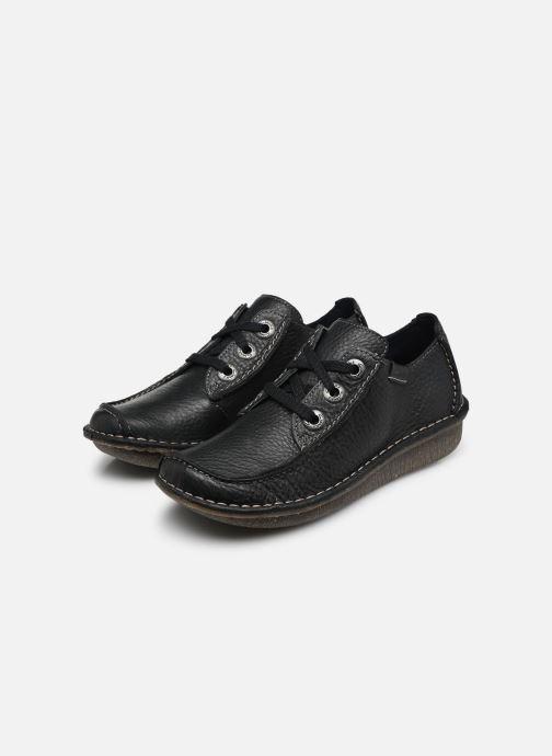 Chaussures à lacets Clarks Unstructured Funny Dream Bleu vue bas / vue portée sac