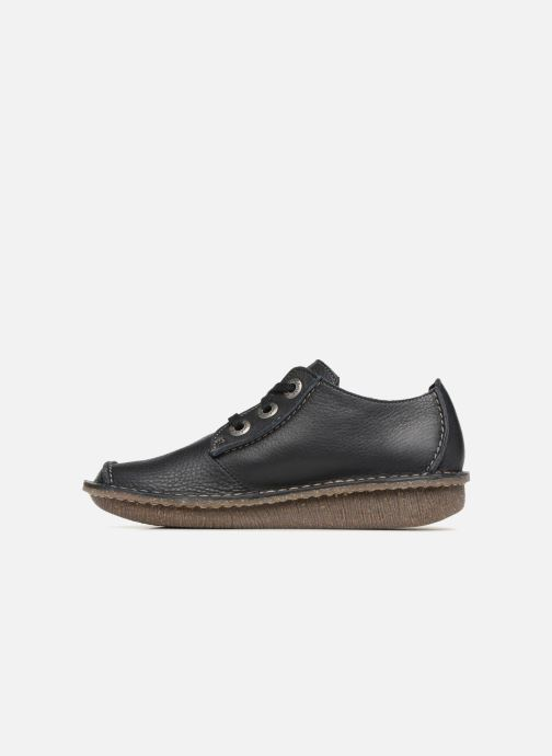 Chaussures à lacets Clarks Unstructured Funny Dream Bleu vue face