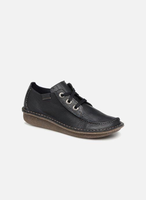 Snøresko Clarks Unstructured Funny Dream Blå detaljeret billede af skoene