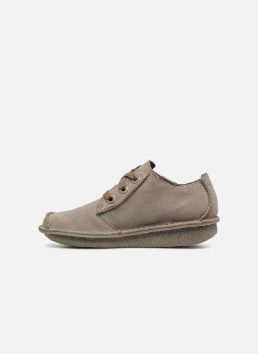 Chaussures à lacets Clarks Unstructured Funny Dream Gris vue face