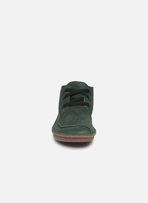 Chaussures à lacets Clarks Unstructured Funny Dream Vert vue portées chaussures